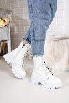 Beyaz Kırışık Rugan Kadın Bot Md1001-116-0002