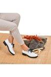 Kadın Beyaz  Hakiki Deri Ayakkabı