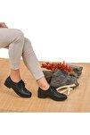 Kadın Siyah Hakiki Deri Ayakkabı