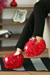 Kadın Kırmızı Tavşanlı Panduf