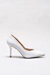 POIPUU Hakiki Deri Beyaz Kadın Ayakkabı