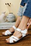 Kadın Beyaz İnce Topuklu Sandalet