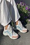 Kadın Beyaz Suni Deri  Spor Ayakkabı