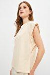 Taş Kolsuz Basic Örme T-Shirt TWOSS20TS0021