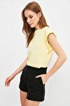 Sarı Kolsuz Basic Örme T-Shirt TWOSS20TS0021