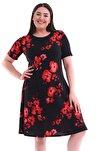 Kadın Çiçek Desenli Kısa Kol Elbise