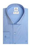 Erkek K.mavi Regularfıt Rahat Kalıp Easy Iron ( Kolay Ütü ) Basıc Gömlek