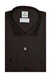 Erkek Siyah Regularfıt / Rahat Kalıp 7 Cm Klasik Gömlek
