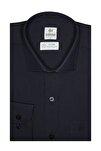 Erkek Lacivert Regularfıt / Rahat Kalıp 7 Cm Klasik Gömlek