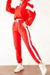 Kadın Kırmızı &Beyaz Parçalı Eşofman Takımı 0YZK8-10315-04