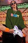 Mad Girls Haki Baby Baskılı Sweatshirt MG791
