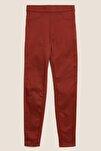 Kadın Turuncu Yüksek Belli Jegging Pantolon T57008604