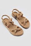 Altın Halat Detaylı Sandalet