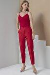 Pantolon Kırmızı Bel Lastikli
