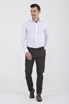 Desenli Slim Fit Haki Pantolon 29262019A001