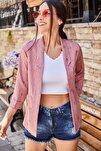 Kadın Gül Kurusu Kabartmalı Puanlı Blazer Ceket ARM-21Y001030