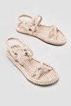 Pauletta Ten Halat Detaylı Sandalet