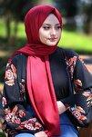 Kadın Bordo Cotton Pamuk Şal Ck01
