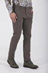 Desenli Slim Fit Vizon Pantolon 29262019A001