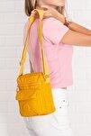 Moda Kadın Omuz ve El Kapitone Sarı Çanta