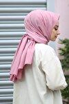 Kadın Gül Kurusu Cotton Pamuk Şal Ck01