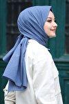 Kadın Indigo Cotton Pamuk Şal Ck01