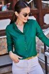 Kadın Koyu Yeşil Uzun Kollu Düz Gömlek ARM-18Y001176