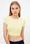 Sarı Örme Spor Bluz TWOAW21BZ0158