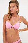 Pembe Fiyonk Detaylı Push-Up Bikini Üstü TBESS20BU0237