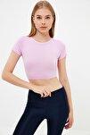 Lila Örme Spor Bluz TWOAW21BZ0158