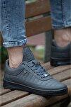 07 Füme Dikişli Unisex Spor Ayakkabı