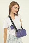 U4 Lila Cüzdanlı Çanta