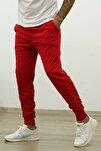 Erkek Kırmızı Slim Fit Jogger Eşofman Altı