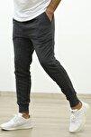 Erkek Füme Slim Fit Jogger Eşofman Altı