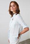 Mavi Cep Detaylı Gömlek TWOSS19ST0057