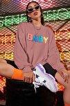Mad Girls Pudra Baby Baskılı Sweatshirt MG791