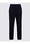 Kadın Lacivert Jarse Tapered Pantolon T57006622H