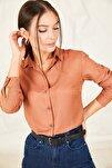 Kadın Taba Uzun Kollu Düz Gömlek ARM-19K001200
