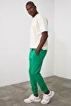 Yeşil Erkek Jogger Beli Paçası Lastikli Yeni Eşofman Altı TMNSS20EA0053