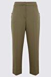 Kadın Kahverengi 7/8 Evie Straight Pantolon T59005551
