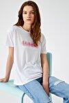Kadın Kirik Beyaz T-Shirt 1YAK13107EK
