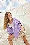 Lila Boyfriend Gömlek TWOAW20GO0115