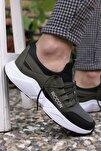 Haki Siyah Beyaz Unisex Sneaker 0012072