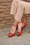 Rayna Kısa Topuk Cilt Ayakkabı Kırmızı