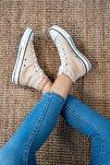 Bilekli Kadın Keten Spor Ayakkabı
