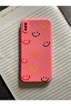 Iphone X Ve Xs Uyumlu Smile Desenli Baskılı Lansman Koruyucu Kapak Kılıf