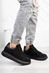 Süet Siyah Unisex Sneaker 0012360