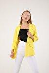 Kadın Sarı Astarsız Ceket
