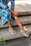 Marylan Kadin Bebemavi Vegan Deri Sandalet