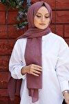 Kadın Vişne Cotton Pamuk Şal Ck01